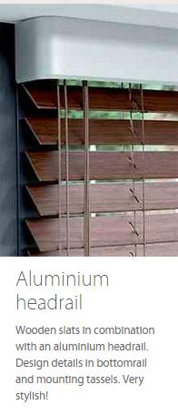 Wooden Blind Aluminium Headrail Ashtead Surrey