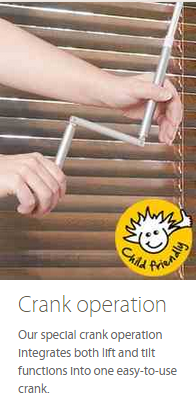 Wooden Blind Crank Operation Ashtead Surrey