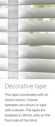 Wooden Blind Decorative Tape Ashtead Surrey