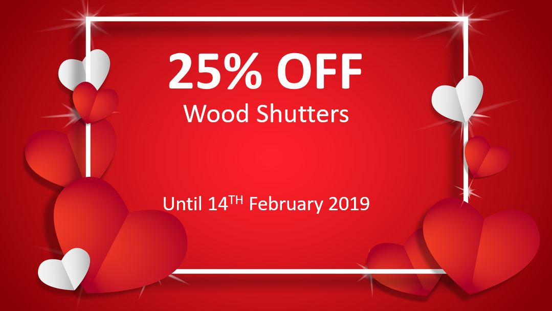 Ashtead Interiors Wood Shutters Surrey Special Offer..